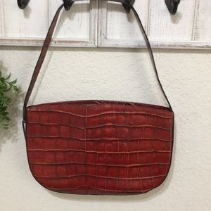 ♥️Red purse with zipper and one strap
